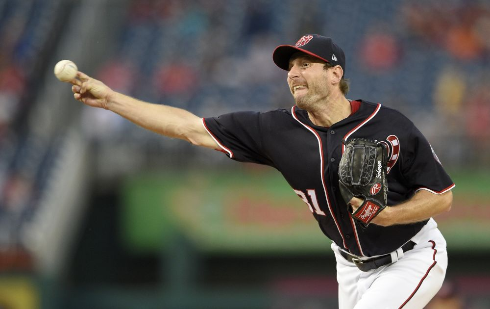 Max Scherzer wasn't fooling around during the Nationals 11-10 win against the Phillies on Friday. (AP)
