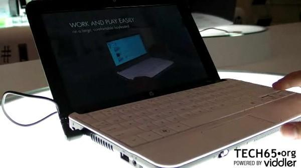 HP Mini 110 netbook gets examined on video