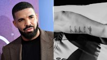 Drake angers Beatles fans with 'egotistical' Abbey Road tattoo to mark his latest chart record