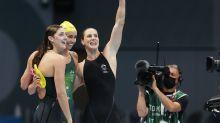 奧運三連霸 澳洲無敵女子隊400米自由式接力又奪金