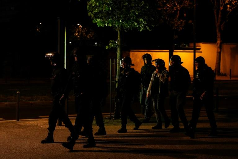 Police responded with rubber bullets and tear gas (AFP Photo/GEOFFROY VAN DER HASSELT)