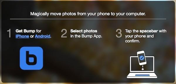 Bump app for Android and iOS adds desktop photo sharing