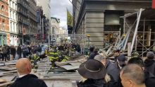 High winds blamed for scaffolding collapse in New York City's busy SoHo neighborhood