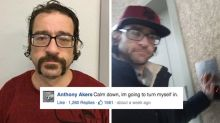 Guy responds to his own wanted mugshot on Facebook and hilarious romance ensues