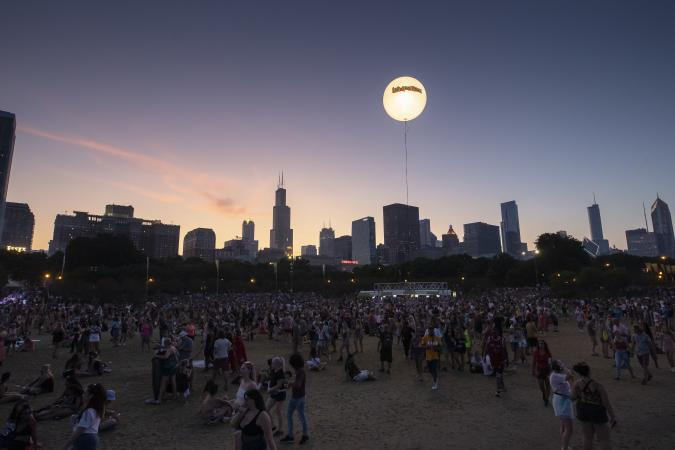 CHICAGO, IL - AUGUST 04: General atmosphere seen on day four of Lollapalooza at Grant Park on August 4, 2019 in Chicago, Illinois. (Photo by Michael Hickey/Getty Images)