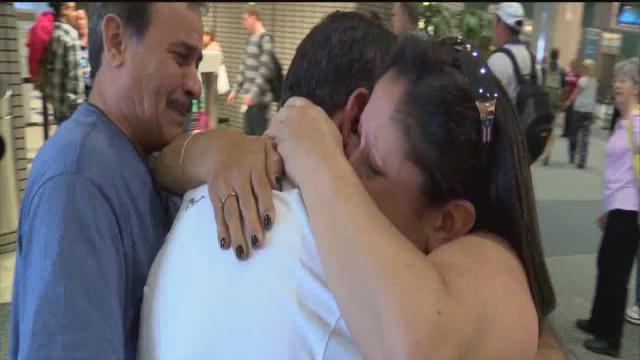 Sisters reunited with brother after 61 years apart