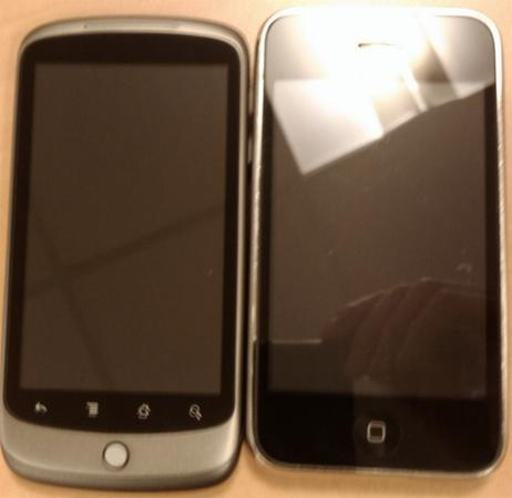 Google Nexus One stands with iPhone and Hero, interface gets a 5-minute walkthrough