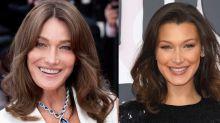 Carla Bruni y Bella Hadid…. ¡son gemelas!
