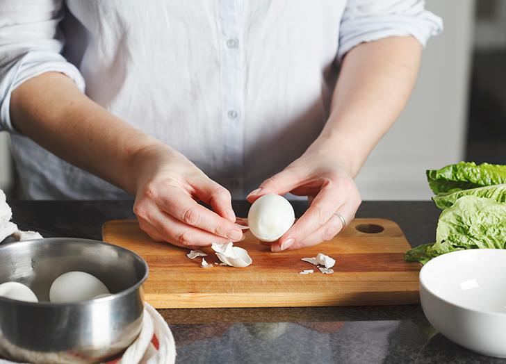 How to Peel Hard-Boiled Eggs Twice as Fast