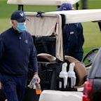 Biden golfed as president for the first time on his 87th day in office. Trump played on his 15th.