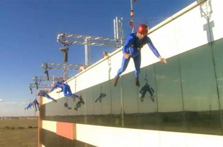 Romanians in spandex base jump the Intel theme chimes