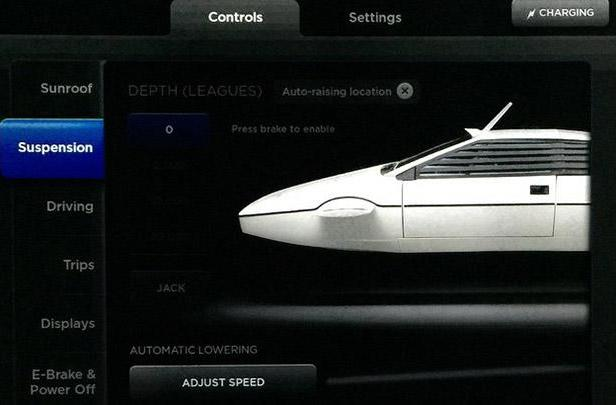 Tesla Model S owners can pretend they're in a James Bond submarine