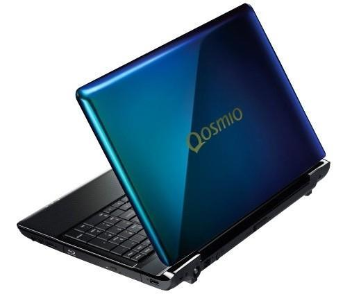 Toshiba Dynabook Qosmio T750 laptop has a lid that changes color on both sides