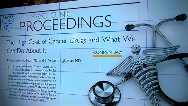 Mayo Clinic blames monopoly for cancer drug costs