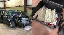 Ex-cop found with $570K in van after crash with soccer team bus, Nebraska sheriff says