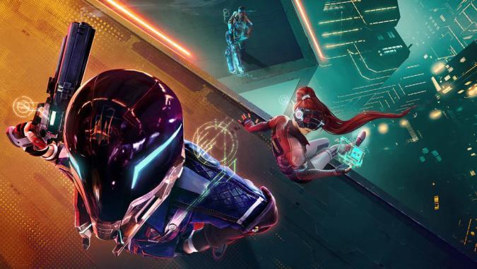 A promo image for Ubisoft's battle royale, Hyper Scape.