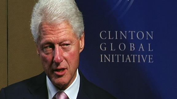 Clinton on Secy. Clinton and his advice for Mideast Peace