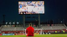 Soccer fans come for TFC game, stay to watch Raptors at BMO Field