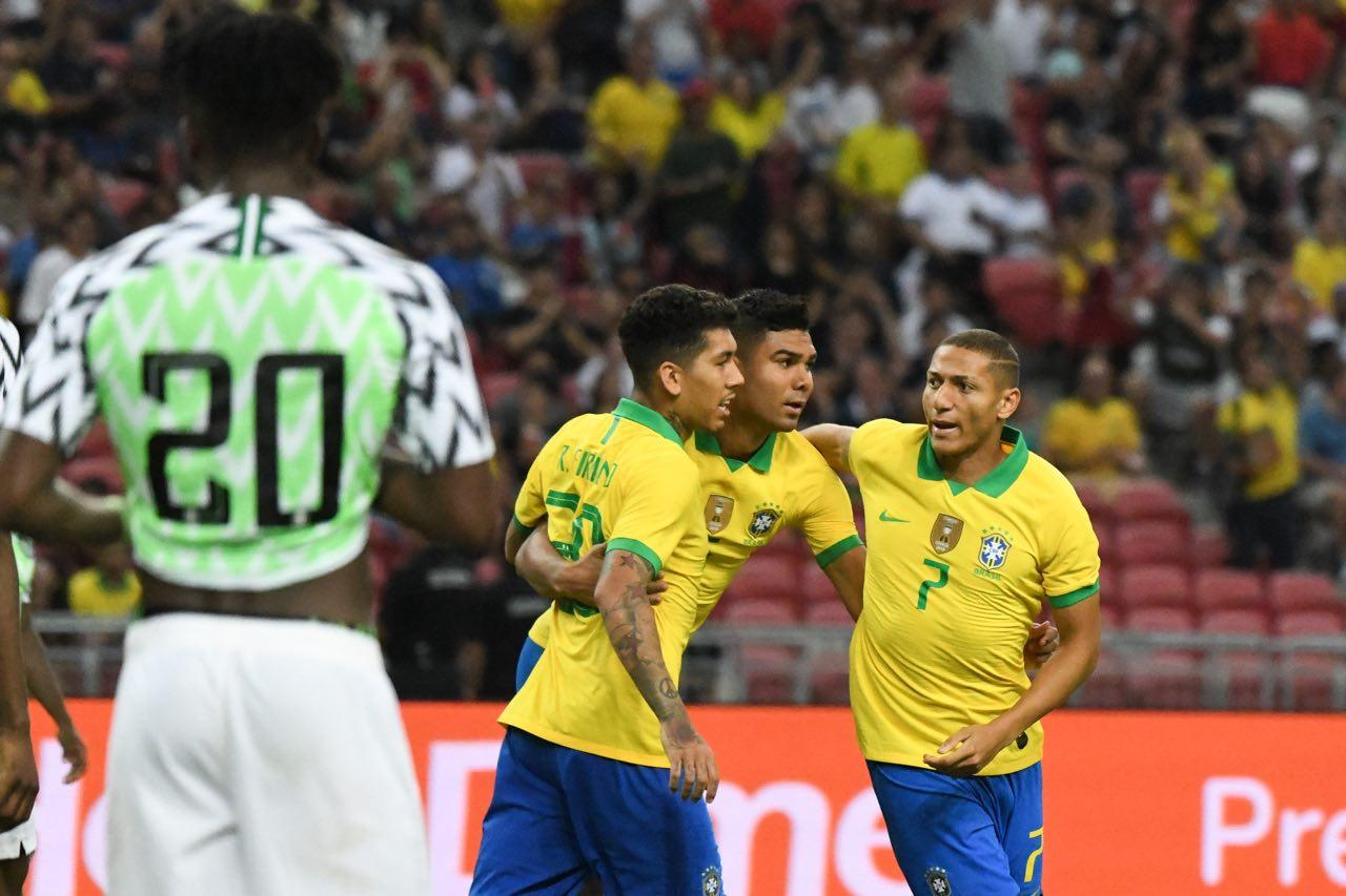 Brazil's winless run stretches to four games with 1-1 draw against Nigeria