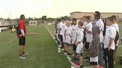 NFL Stars Teach Young Football Players