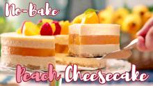 No-Bake Peach Cheesecake