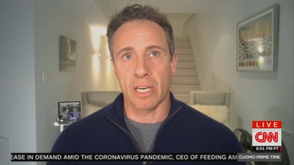 CNN's Cuomo hosts show from basement quarantine