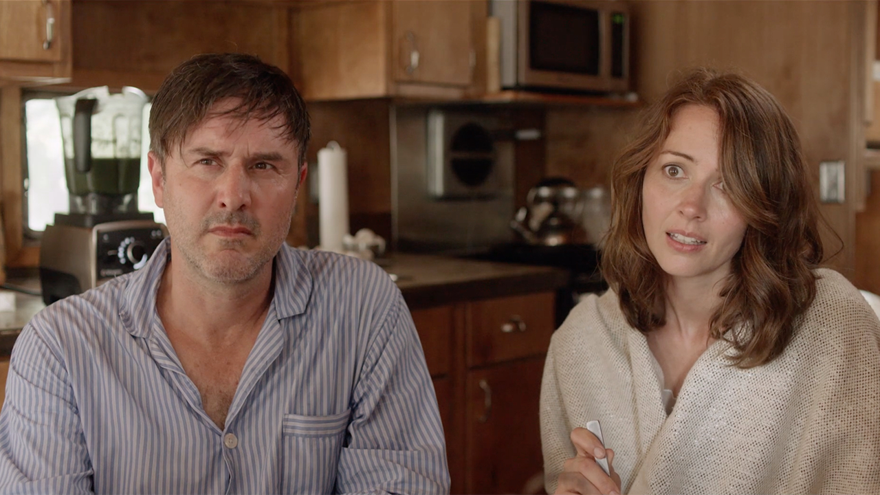Amy Acker Bikini amy acker and david arquette go on a camping trip from hell