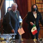 Mexican president says migration meeting with Kamala Harris went so well he called her 'president'