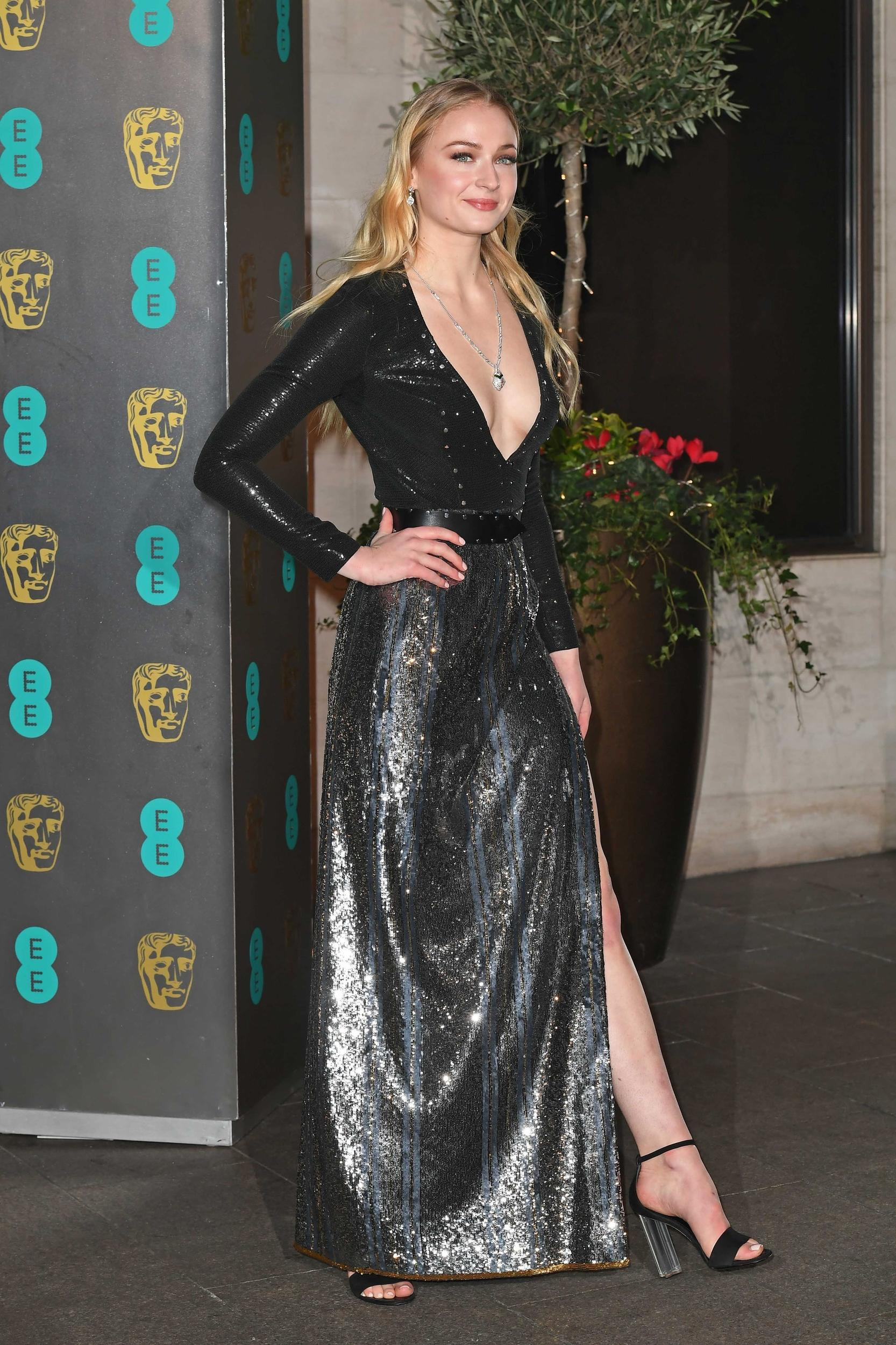 Photo by: KGC-143/STAR MAX/IPx 2017 2/12/17 Sophie Turner at the after party for the 2017 BAFTA British Academy Film Awards. (Grosvenor House Hotel, London, England, UK)