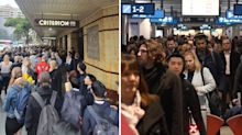 'People literally falling over themselves': Sydney train breakdown causes commuter chaos