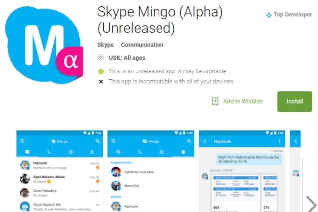 Skype Mingo ersetzt Telefon- und SMS-Apps
