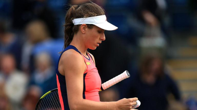 Johanna Konta crashes out of Aegon Classic after second-round defeat by Coco Vandeweghe