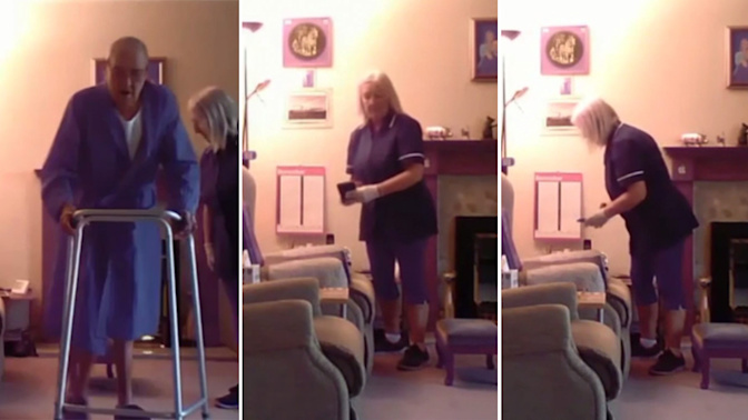 Hidden camera catches carer stealing from OAP