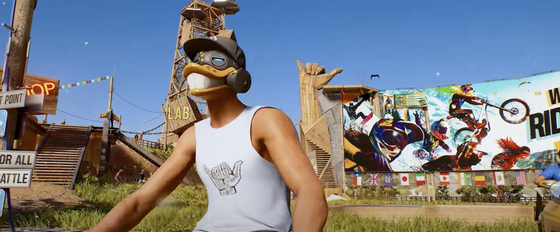 Duck mask man