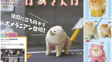 日本扭蛋「風中勁狗」實體化 強風吹襲都要散步