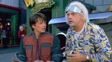 """""""Zurück in die Zukunft""""-Stars Michael J. Fox und Christopher Lloyd wiedervereint"""