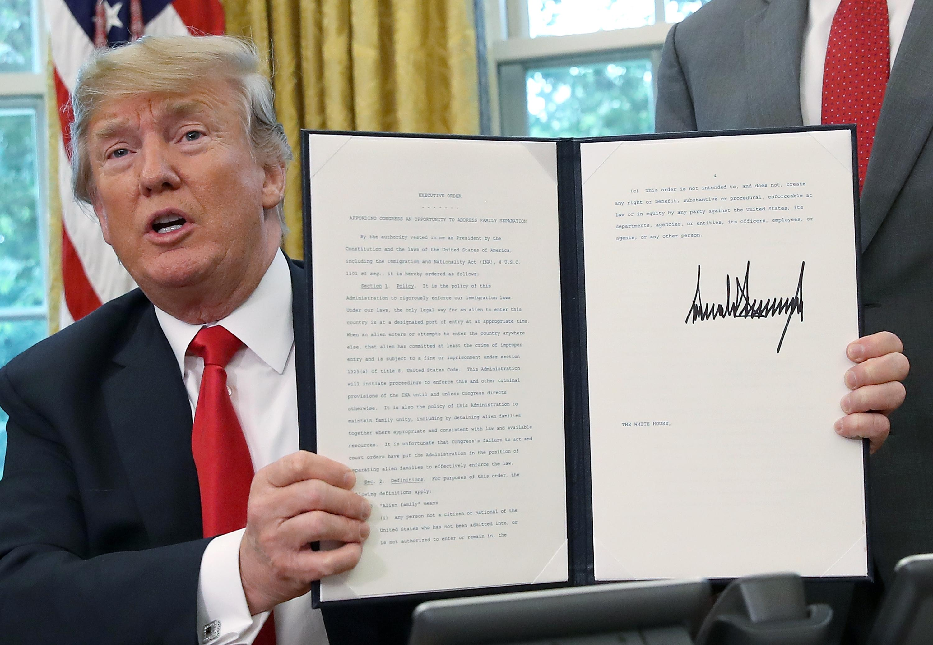 Hasil gambar untuk President Donald J. Trump is Acting to Enforce the Law, While Keeping Families Together