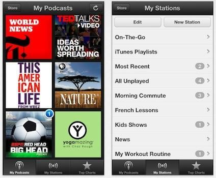 Apple updates iOS Podcasts app with new design, custom stations