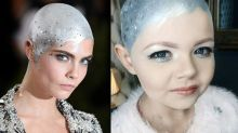 Girl With Cancer, 8, Re-creates Cara Delevingne's Bald Met Gala Look