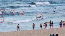 'They were so bloody lucky': Eight people rescued after getting caught in rip on popular beach