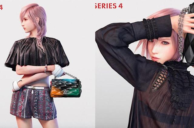 Louis Vuitton's 2016 collection, as modeled by 'Final Fantasy'