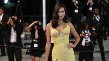 Irina Shayk hits the Cannes red carpet just two months after giving birth