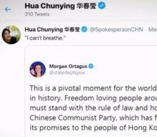 "China says U.S. protests show ""hypocrisy"""