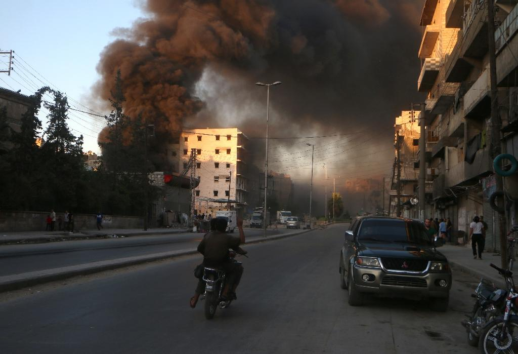 Once Syria's economic powerhouse, Aleppo has been ravaged by the war that began in March 2011 with anti-government protests (AFP Photo/Fadi Al-Halabi)