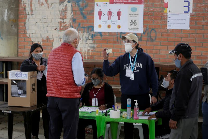 'Bring your own pen': How Bolivia is voting amid the pandemic