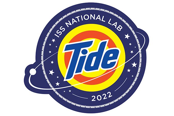Tide space laundry detergent ISS badge