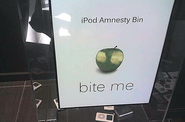 The iPod Amnesty Bin
