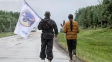 Two men walking across Saskatchewan to raise awareness of Indigenous suicide