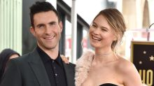 Adam Levine Indulges Behati Prinsloo's Pregnancy Cravings While She Shares New Pic of Her Baby Bump