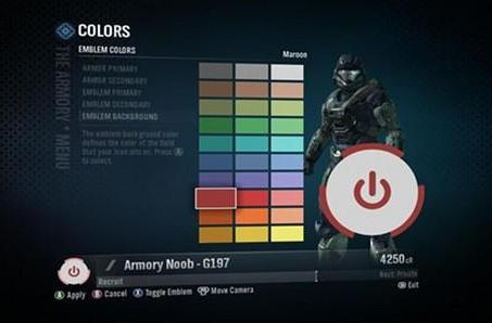Halo: Reach causing Red Ring of Death (emblems)